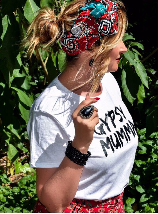 Gypsy Mumma tee- White