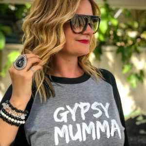 Gypsy Mumma Raglan - Grey and Black