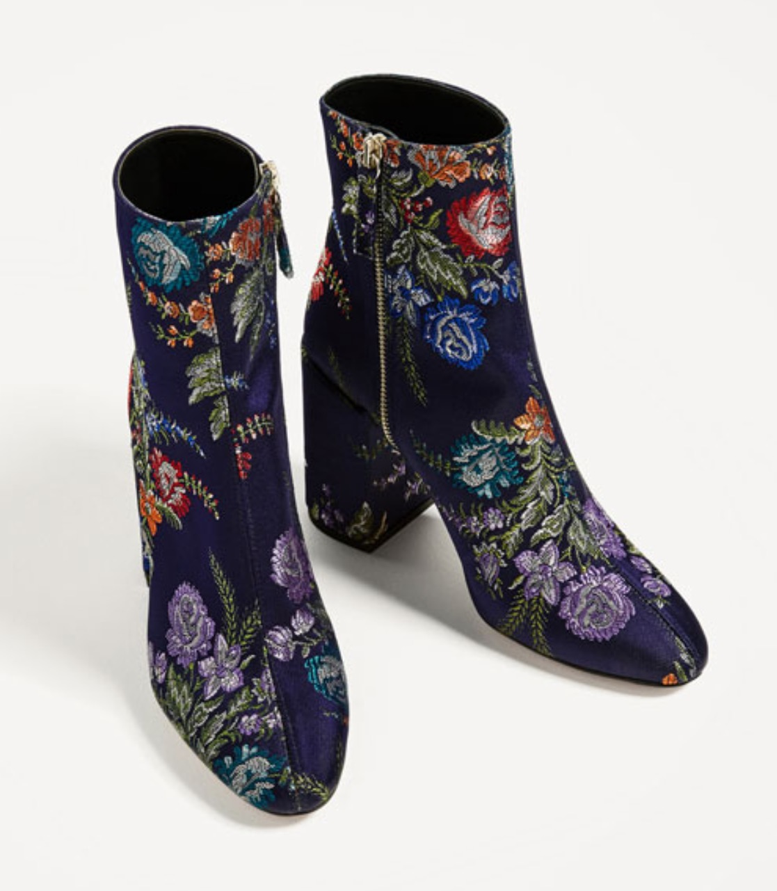 Zara Embroidered Ankle Boot